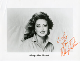 MARY LOU TURNER - AUTOGRAPHED INSCRIBED PHOTOGRAPH
