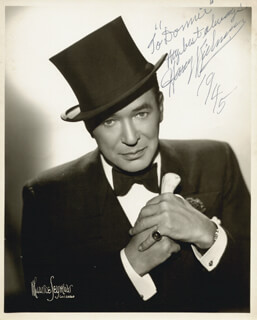 HARRY RICHMAN - AUTOGRAPHED INSCRIBED PHOTOGRAPH 1945