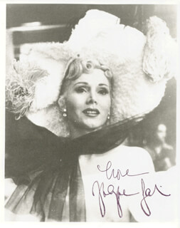 ZSA ZSA GABOR - AUTOGRAPHED SIGNED PHOTOGRAPH