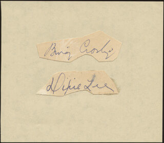 Autographs: BING CROSBY - SIGNATURE(S) CO-SIGNED BY: DIXIE LEE