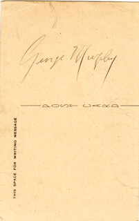 Autographs: GEORGE MURPHY - PICTURE POST CARD SIGNED