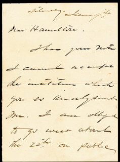 GENERAL PHILIP H. SHERIDAN - AUTOGRAPH LETTER SIGNED 6/9