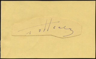 TED HEALY - AUTOGRAPH