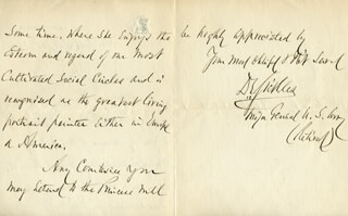 MAJOR GENERAL DANIEL E. SICKLES - AUTOGRAPH LETTER SIGNED 07/18/1910