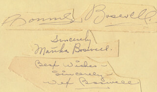 THE BOSWELL SISTERS - CLIPPED SIGNATURE CO-SIGNED BY: THE BOSWELL SISTERS (MARTHA BOSWELL), THE BOSWELL SISTERS (HELVETIA VET BOSWELL), THE BOSWELL SISTERS (CONNEE BOSWELL)