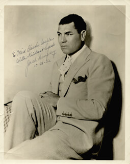 JACK DEMPSEY - AUTOGRAPHED INSCRIBED PHOTOGRAPH 10/31/1932
