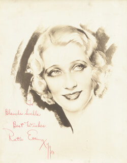 RUTH ETTING - AUTOGRAPHED INSCRIBED PHOTOGRAPH 01/09/1933