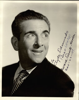 EDWARD EVERETT HORTON - AUTOGRAPHED INSCRIBED PHOTOGRAPH 11/22/1939