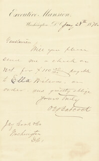 BRIGADIER GENERAL ORVILLE E. BABCOCK - AUTOGRAPH LETTER SIGNED 01/28/1870  - HFSID 5449