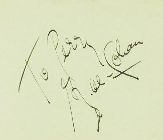 GEORGE M. COHAN - INSCRIBED SIGNATURE