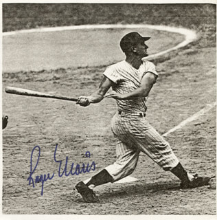 ROGER MARIS - PHOTOCOPY SIGNED IN INK