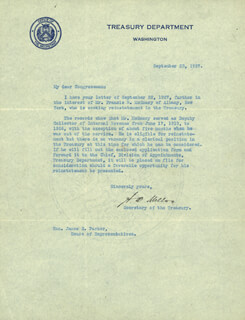 ANDREW MELLON - TYPED LETTER SIGNED 09/23/1927