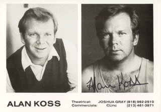 ALAN KOSS - PRINTED PHOTOGRAPH SIGNED IN INK