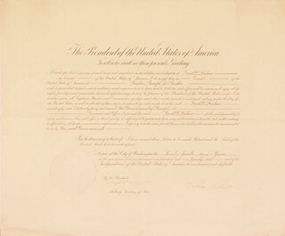 PRESIDENT CALVIN COOLIDGE - DIPLOMATIC APPOINTMENT SIGNED 06/24/1926 CO-SIGNED BY: JOSEPH C. GREW