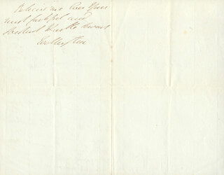 DUKE (ARTHUR WELLESLEY) OF WELLINGTON (GREAT BRITIAN) - AUTOGRAPH LETTER SIGNED 06/29/1841