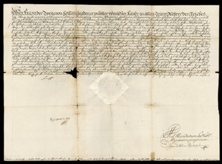 Autographs: EMPEROR FRANCIS II (AUSTRIA) - DOCUMENT SIGNED  1792