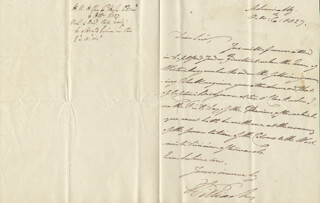 Autographs: KING WILLIAM IV - AUTOGRAPH LETTER SIGNED 10/06/1827