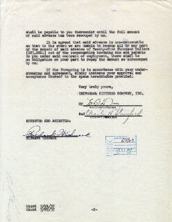 RICHARD WIDMARK - DOCUMENT SIGNED 05/29/1957