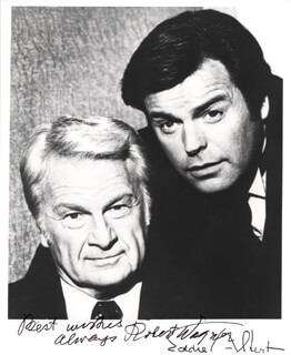 SWITCH TV CAST - AUTOGRAPHED SIGNED PHOTOGRAPH CO-SIGNED BY: EDDIE ALBERT, ROBERT J. WAGNER