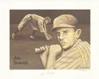 JOE SEWELL - PRINTED ART SIGNED IN INK CO-SIGNED BY: DON SPRAGUE