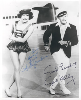 WHAT A WAY TO GO MOVIE CAST - AUTOGRAPHED SIGNED PHOTOGRAPH CO-SIGNED BY: GENE KELLY, SHIRLEY MacLAINE