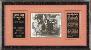 HERE'S LUCY TV CAST - AUTOGRAPHED SIGNED PHOTOGRAPH CO-SIGNED BY: ROBERT BOB CUMMINGS, LUCILLE LUCY BALL, LUCIE ARNAZ