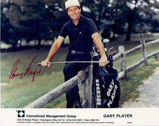GARY PLAYER - AUTOGRAPHED SIGNED PHOTOGRAPH