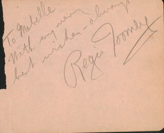 REGIS TOOMEY - AUTOGRAPH NOTE SIGNED