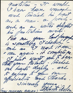 Autographs: MRS. MICHAEL (COUNTESS ATALANTA MERCATI) ARLEN - AUTOGRAPH LETTER SIGNED 07/09/1956
