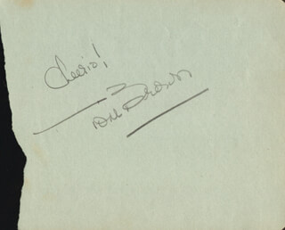TOM BROWN - AUTOGRAPH SENTIMENT SIGNED
