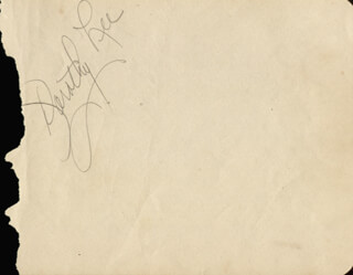DOROTHY LEE - AUTOGRAPH