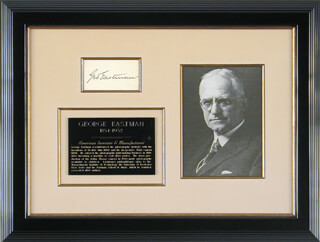 GEORGE EASTMAN - AUTOGRAPH