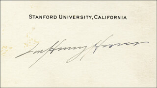 FIRST LADY LOU HENRY HOOVER - AUTOGRAPH
