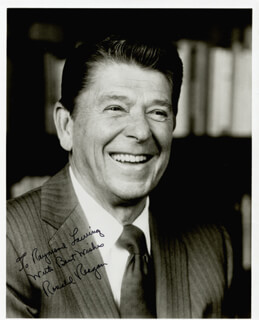 PRESIDENT RONALD REAGAN - AUTOGRAPHED INSCRIBED PHOTOGRAPH