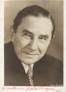 BELA LUGOSI - AUTOGRAPHED INSCRIBED PHOTOGRAPH
