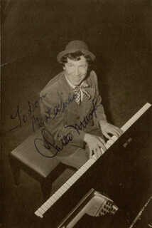 CHICO (LEONARD) MARX - AUTOGRAPHED INSCRIBED PHOTOGRAPH