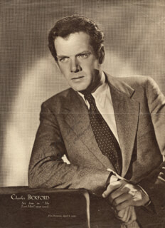 CHARLES BICKFORD - MAGAZINE PHOTOGRAPH SIGNED CIRCA 1933