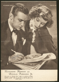 DOUGLAS FAIRBANKS JR. - MAGAZINE PAGE SIGNED