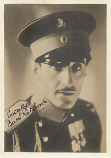BASIL RATHBONE - AUTOGRAPHED SIGNED PHOTOGRAPH