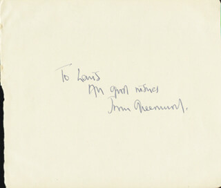 JOAN GREENWOOD - AUTOGRAPH NOTE SIGNED