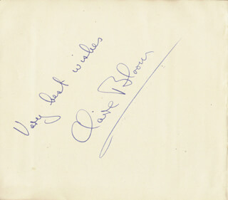 CLAIRE BLOOM - AUTOGRAPH SENTIMENT SIGNED
