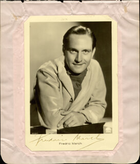 FREDRIC MARCH - AUTOGRAPHED SIGNED PHOTOGRAPH CO-SIGNED BY: WILFRID LAWSON