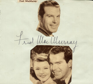 FRED MacMURRAY - AUTOGRAPH