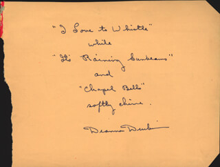 DEANNA DURBIN - AUTOGRAPH QUOTATION SIGNED