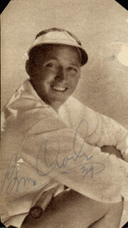 BING CROSBY - MAGAZINE PHOTOGRAPH SIGNED 1939