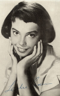 LESLIE CARON - PICTURE POST CARD SIGNED