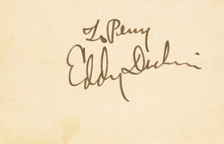 EDDY DUCHIN - INSCRIBED SIGNATURE