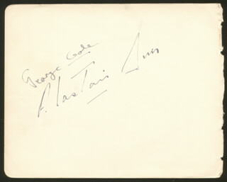 ALASTAIR SIM - AUTOGRAPH CO-SIGNED BY: NAT JACKLEY