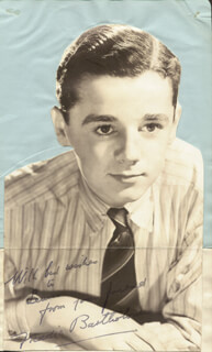 FREDDIE BARTHOLOMEW - INSCRIBED MAGAZINE PHOTO SIGNED CO-SIGNED BY: SALLY GRAY