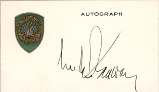 Autographs: GENERAL MATTHEW B. RIDGWAY - PRINTED CARD SIGNED IN INK